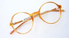 Brille Brillengestell rund leicht honig hellbraun kleinf runde Form neu Grösse S