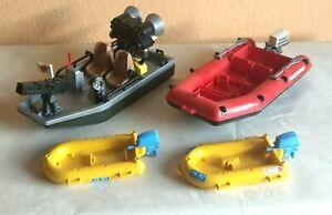 PLAYMOBIL KONVOLUT BOOTE !!!!!! Boot mit Kanone - Schlauchboote