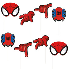 SPIDERMAN Photo Booth Party props Pack de 8