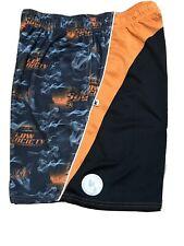 Flow Society Boys Lax Lacrosse Shorts Youth Xl Smoke Performance Orange