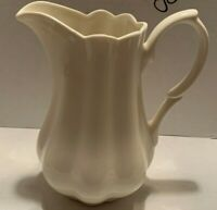 "I. Godinger & Co. 7"" Tall Ivory Scalloped Edge Creamer Pitcher"