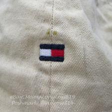 Vintage 1990s Distressed Beat Up Tommy Hilfiger Leather Strapback Hat Cap Worn