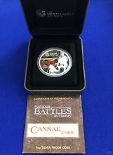 2009 Tuvalu Silver Coin Cannae Battle Limited One Dollar Limited To 5,000 Coins