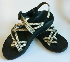 CHACO Vibram Women's Adjustable Double-Strapped Sport Land/Water Sandals Sz 10