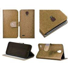 Custodie portafogli in pelle oro per cellulari e palmari