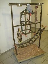 FREISITZ aus Holz Papageienfreisitz m. Tower Schaukel Papageienspielzeug *NEU*