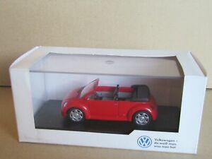29 D Minichamps 264 VW Volkswagen Concept 1 New Beetle Cabriolet + Box 1:43