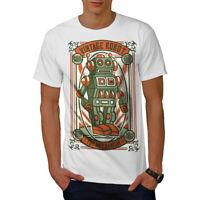 Wellcoda Vintage Old Robot Mens T-shirt, Mechanism Graphic Design Printed Tee