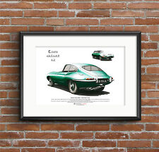 Jaguar E-Type Series 1 Fixed Head Coupe ART POSTER A3 size