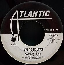 Barbara Lewis | Soul 45 | Love to Be Loved / Make Me Your Baby | Atlantic 45-230