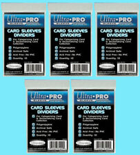 50 ULTRA PRO Trading CARD Sleeve DIVIDERS 81229 Index White Section Storage Box