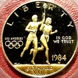 1984-W $10 GOLD OLYMPIC TORCH BEARERS PCGS PR-69 DCAM