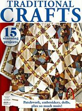 TRADITIONAL CRAFTS  MAGAZINE  VOL 2 NO 6.   2013,  PATTERN SHEET ATTACHED