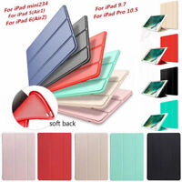 Magnetic Leather Smart Cover Rubber Case For iPad 9.7 2018/2017 Mini Pro Air 1/2