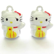 10 mignon hello kitty 22mm bell charms fabrication de bijoux