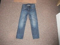"And & Relaxed Jeans Waist 27"" Leg 24"" Faded Dark Blue Boys 10/11 Yrs Jeans"