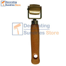 Brass Seam Roller Wooden Handled Seam Roller Wallpaper Floor Seamless Roller
