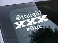 straight edge decal sticker sxe free ship