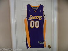 NWT - NBA - LA LAKERS - JERSEY 00 - PURPLE- ADIDAS - LARGE - MEN
