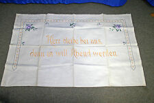 Antikes  Küche Tuch Ziertuch Tischtuch Spruchtuch Abdecktuch Shabby Chic 120x73
