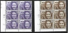 GB-1973 ''Royal Wedding''   Stamp Set Corner Pate Blocks x 6 SG. 941/2