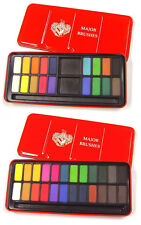 24 COLOUR WATERCOLOUR PAINTING ARTIST PAINTS PANS TABLETS BLOCKS TIN SET Z-1003