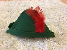Green Felt Robin Hood / Peter Pan Hat Kids Age 1 - 2 Years Fairy Tale One Size