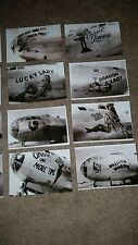 WWII USAAF B-29 BOMBERS & FIGHTERS NOSE ART TINIAN COLLECTION LOT OF 15 LOOK