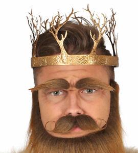 Medieval Metal Crown Viking King GOT Forrest Fairy Pagan Gold Bronze Halloween
