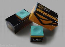 6 Pieces - OB Pool Chalk - Green -  OB Cue Premium Quality Billiard Chalk