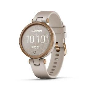 Garmin Lily Sport Smartwatch for Women Rose Gold Bezel with Light Sand Case