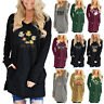 Women V-Neck Long Sleeve Casual Loose T-shirt Ladies Baggy Blouse Tops Plus Size