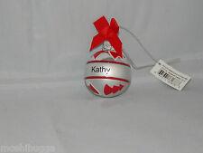 NWT~Hallmark-Joyous Noel Personalized Ornaments by GANZ-Mini-Christmas-KATHY