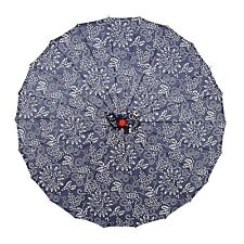 "THY COLLECTIBLES Japanese Chinese Asian Parasol Umbrella 33"" Beautiful Blue-A..."