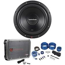 "Rockford Fosgate R2D2-10 10"" 250W Car Subwoofer+500W RMS Mono Amplifier+Amp Kit"