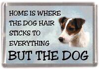 "Parson/Jack Russell Terrier Fridge Magnet ""Home is Where"" Design by Starprint"