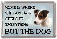 "Parson/Jack Russell Terrier Fridge Magnet ""Home is Where"" Design by Starprint"