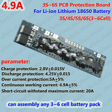 3S~6S BMS PCM Protection Board for 3~6 Packs 18650 Li-ion lithium Battery Cell
