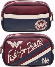 "LICENSED DC COMICS ""WONDER WOMAN MOVIE"" MAKEUP BAG / COSMETIC CASE FREE USA SHIP"