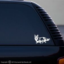 Welsh Corgi Dog vinyl decal, herding dog, puppy, akc, Cardigan Pembroke sm,