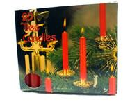 LOT 1 VINTAGE CHRISTMAS TREE PARTY OR CHIME CANDLES RED NEW 40 CANDLES
