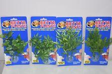Aquarium Betta PETIT plantes en plastique x4 Philo Papaye bambou Sauge variété