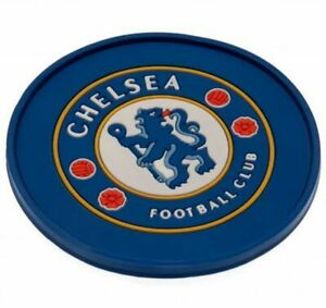 """Chelsea FC Silicone Coaster 9½cm / 3¾"""" Drink Beer Glass Official Merchandise"""