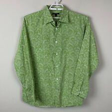 Banana Republic Long Sleeve Men's size XL Button Down Green Paisley Shirt
