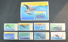 Turks & Caicos 1983 Fin Whale with Neptune Miniature Sheet & Stamps Set MNH