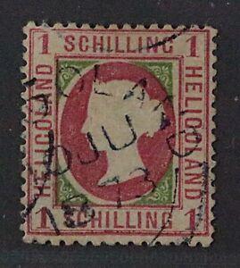 Helgoland  7 x b,  1 Sch. rosakarmin, sauber gestempelt, Fotobefund, KW 1200,- €