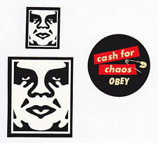 OBEY GIANT Shepard Fairey 3 STICKER LOT Set #21 *BRAND NEW* Cash for Chaos Andre