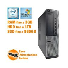 PC DESKTOP COMPUTER FISSO DELL OPTIPLEX 7010 SFF I3 3240 RS232 WINDOWS XP PRO-