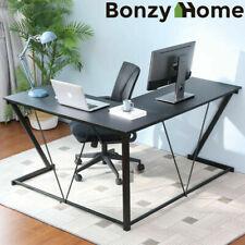 L Shaped Computer Pc Laptop Desk Corner Table Study Workstation Home Office