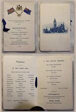 Altes Programmheft Empfang des Prime Minster Neuseeland in Manchester 1930 xz